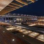 奈良公園バスターミナル_2階ブリッジ夜景